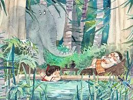 【手绘游记】画笔下的大理-诺邓-腾冲