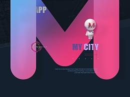 MY city  我的城市英文版UI设计  设计展示  版式设计