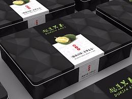猫山王榴莲包装铁盒