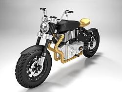 C4D-哈雷摩托车建模