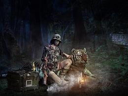 现实主义合成-The woman hunter