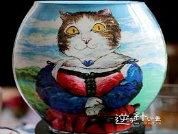 沙瓶画 喵星人喵时光沙瓶画 瓶中创意 被封存的艺术
