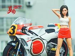 长谷川 1:12 YZR500赛道摩托