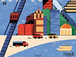 大麦本本 色彩城市