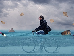 PS日常练习——有违和感的水下骑车