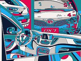 东南汽车DX7海报设计