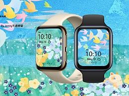 OPPO Watch 表盘设计 白天夜晚的交替