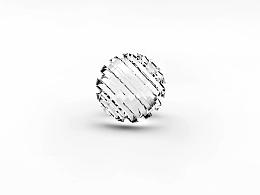 C4D玻璃珠子