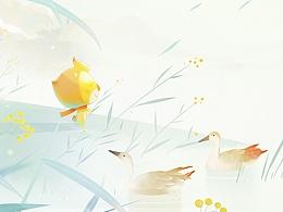 节气插画-白露