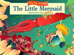 多年前绘制的安徒生童话《海的女儿》