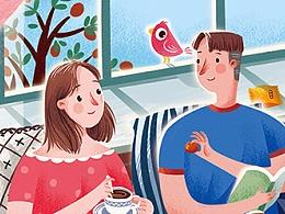 红枣产品商业插画