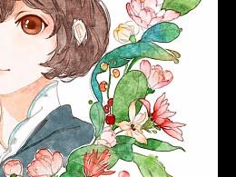 花の信笺-水彩中国风-古风插画