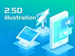 """2.5D""插图-Banner、App闪屏"