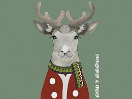 麋鹿插画设计