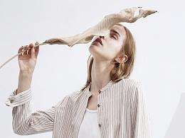 【花树果原创设计女装】2017秋-北欧风棉麻条纹外套
