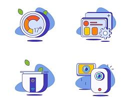 【2017.09.04】插画类icon练习