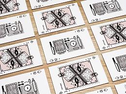 平面设计-黑红扑克