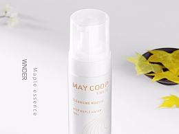 创颜设计/MAYCOOP-枫润洁面慕斯详情页设计/电商设计