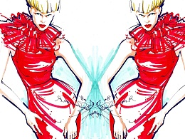 [时装时光] 重重叠叠-春然的时装插画