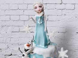 翻糖蛋糕-冰雪奇缘爱莎