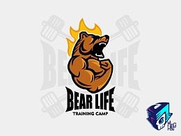 《熊生活》健身燃脂训练营LOGO设计