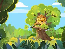 懒熊树屋儿童主题乐园动画展示