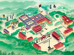 普照寺俯瞰地图