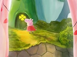 儿童窗帘 小猪佩奇  窗帘详情页