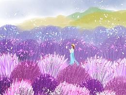 中国月份旅行插画系列二