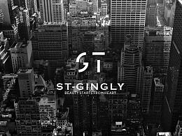 ST logo  化妆品牌LOGO设计定版第一款