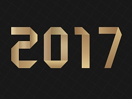字体设计 字体 艺术字体  折纸体  2017