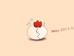 手绘插画作品《蛋蛋的蛋》
