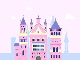 插画 - 梦幻城堡