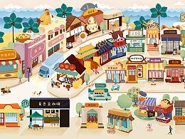 与诸暨印象城合作的商业插画