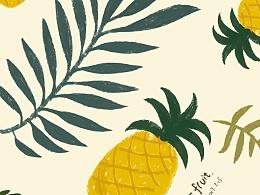 夏日水果-pineapple