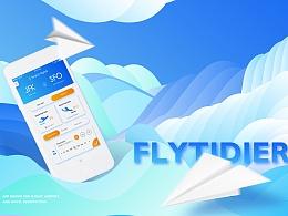 FLYTIDIER航空App设计