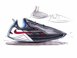 NIKE休闲运动鞋手绘—— 马赛(Mars)作品