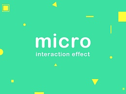 Micro interaction effect