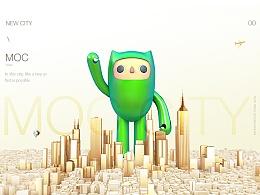 城市吉祥物IP设计-MOC