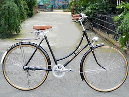 凤凰弯梁女士28自行车改装内三速复古自行车