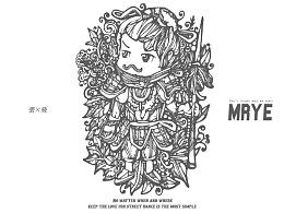 原创黑白插画---《张飞》---MRYE