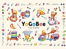 YoGoBee 优碧冰咖 品牌识别形象设计