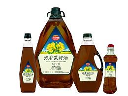 菜籽油包装瓶贴设计