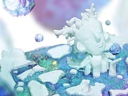 湖神 · 手工泥塑 · 小米MIX2创意大赛