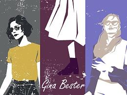 """Gina Bester""系列矢量插画——女装Street Snap2017"