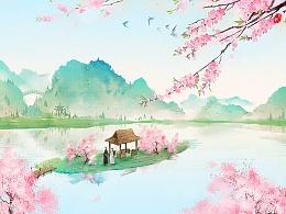 十里桃花。
