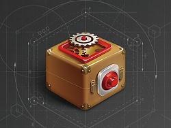 写实图标——复古小盒子