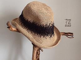 嘉设计-原创重工刺绣草帽