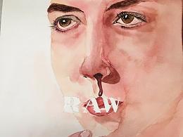 《生吃》海报—水彩人像