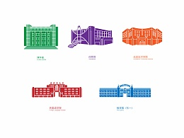 石河子大学建筑图标